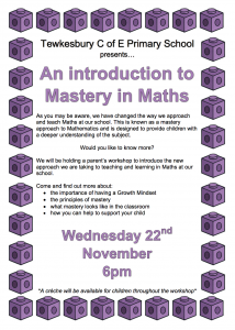 An Introduction to Mastery in Maths – Parents Meeting 22.11.17