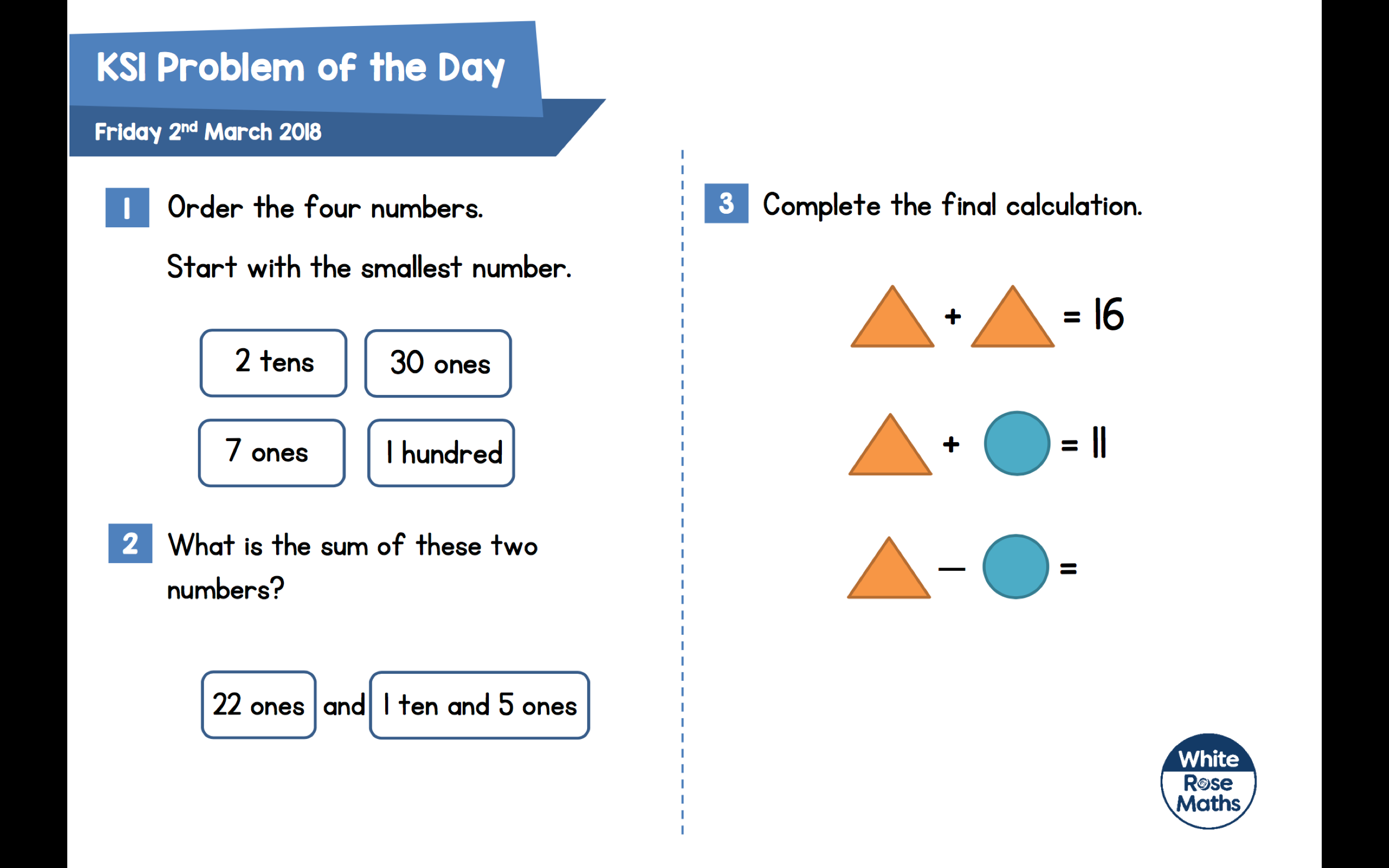 Daily Maths Problems – Tewkesbury C of E Primary