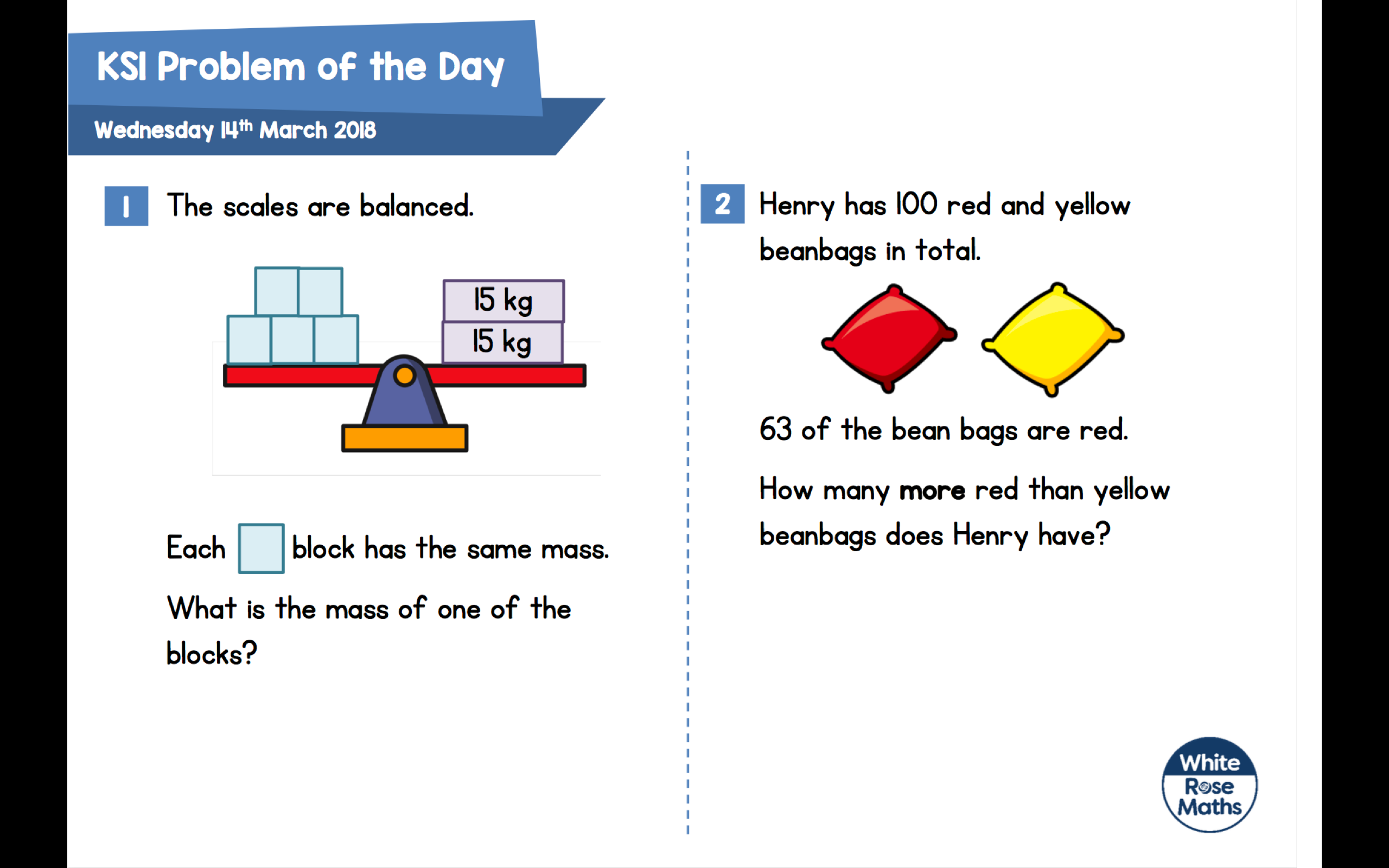 Daily Maths Problems  U2013 Tewkesbury C Of E Primary