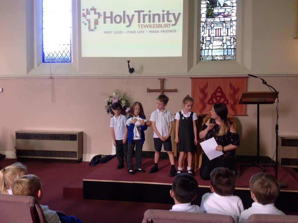 Year 1 visit Holy Trinity for Baptism lesson
