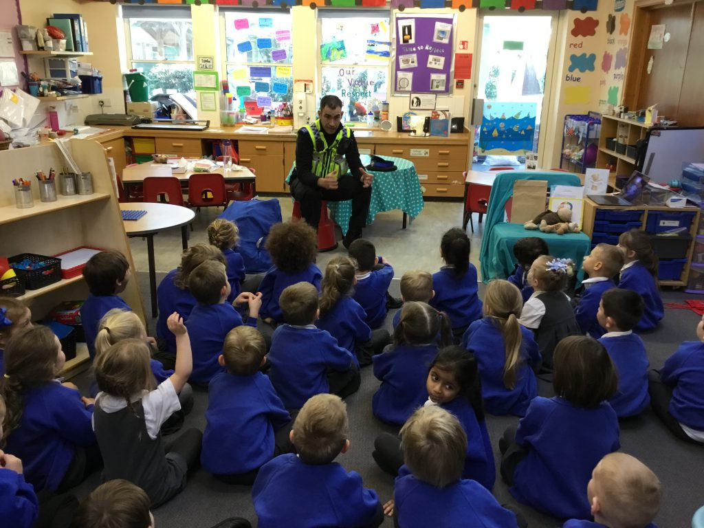 Our visit from our local PCSO!