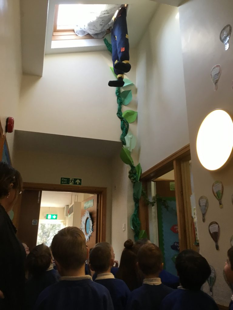 Jack's trip up the beanstalk!