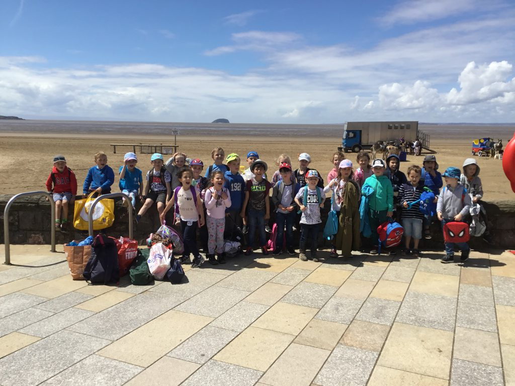 Year One's trip to Weston Super-Mare