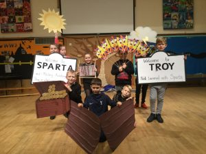 Pupils perform their version of the Odyssey