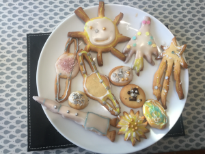 Year 5 make planet themed cookies