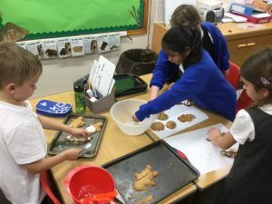 Year 3 have been following instructions making Gingerbread.